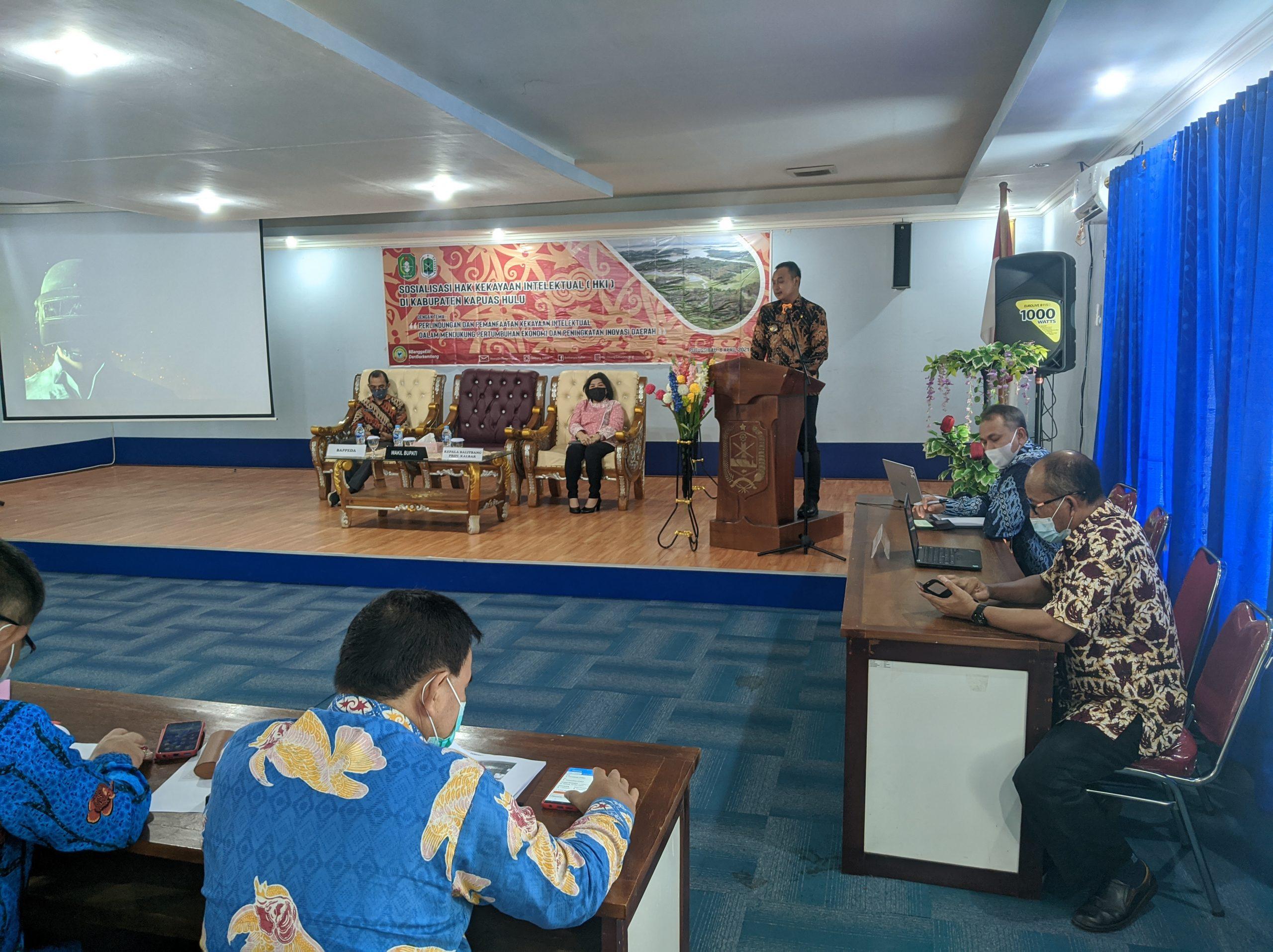 Sosialisasi Hak Kekayaan Intelektual (HKI) di Kabupaten Kapuas Hulu Bersama Badan Penelitian dan Pengembangan Provinsi Kalimantan Barat